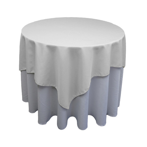 Square Polyester Tablecloth White