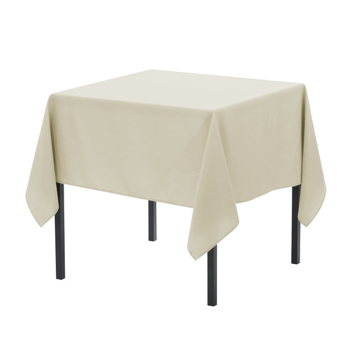 60 x 60 inch Square Polyester Tablecloth Ivory