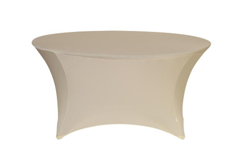 Stretch Spandex 6 ft Round Table Covers Ivory