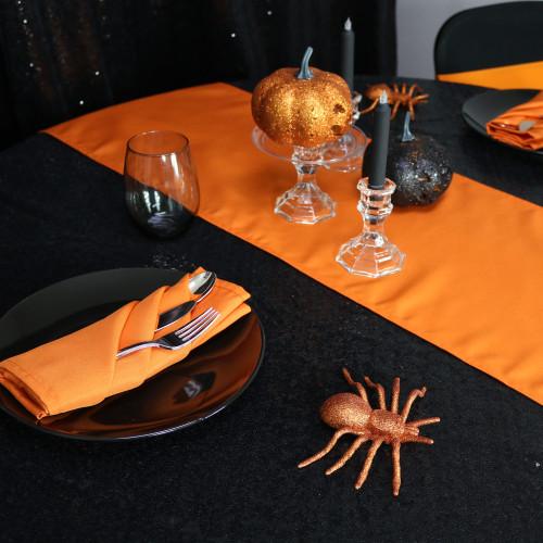 Halloween orange polyester napkins