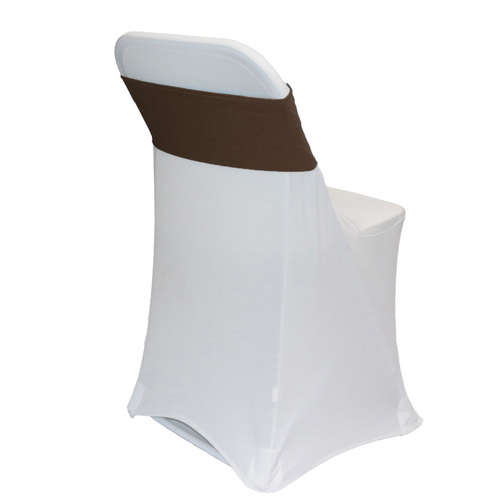 Spandex Chair Sashes Brown
