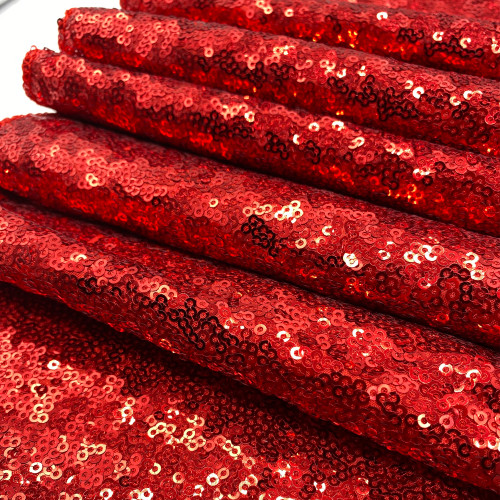 Glitz Sequin Tablecloth Red Zoom