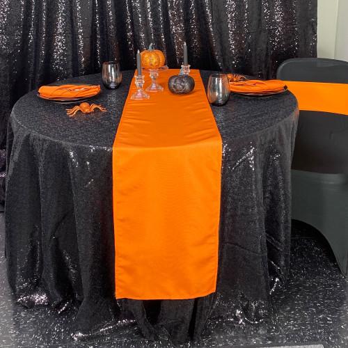 Glitz Sequin Tablecloth Black