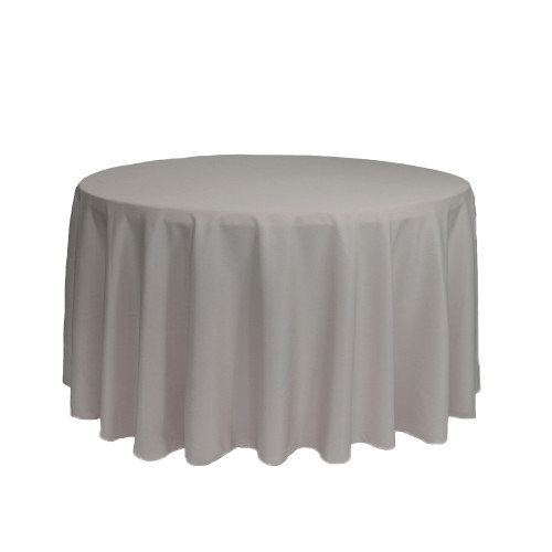 108 inch Round Polyester Tablecloth Gray
