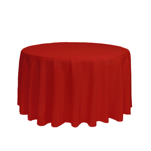108 inch Round Polyester Tablecloth Red