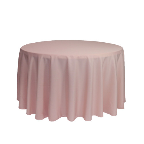 108 inch Round Polyester Tablecloth Blush