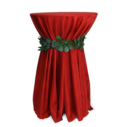 120 Inch Round Polyester Tablecloth Red