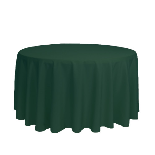 120 Inch Round Polyester Tablecloth Hunter Green