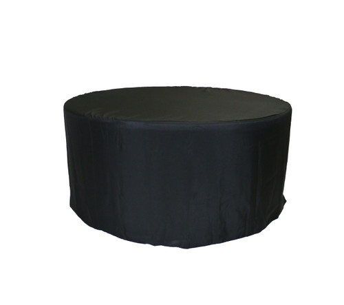 5 ft. Fitted Polyester Tablecloth Round Black
