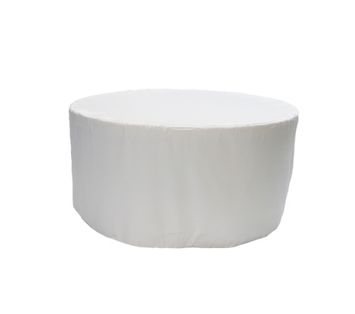 5 ft. Fitted Polyester Tablecloth Round White