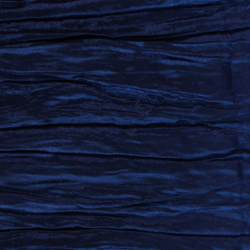 132 Inch Round Crinkle Taffeta Tablecloth Navy Blue
