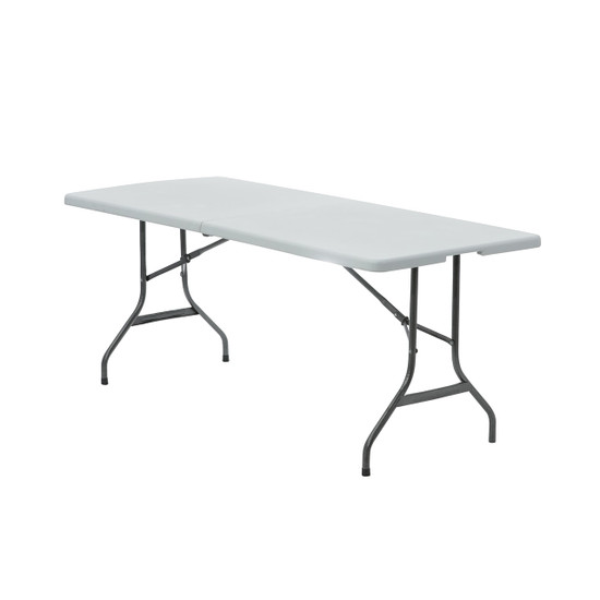 8 ft. Fitted Polyester Tablecloth Rectangular Hunter Green