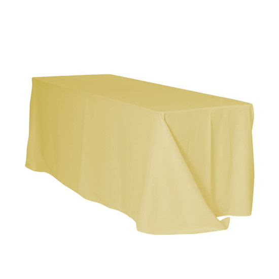 90 x 132 Inch Rectangular Polyester Tablecloth Pastel Yellow