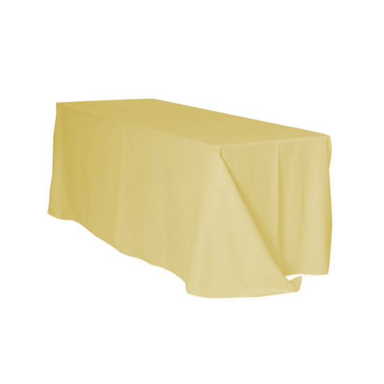 90 x 156 Inch Rectangular Polyester Tablecloth Pastel Yellow