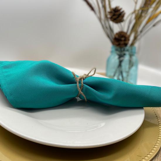 teal cloth napkins
