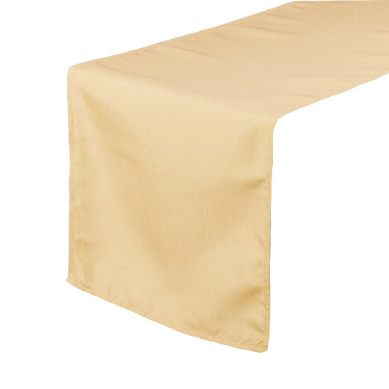 14 x 108 inch Polyester Table Runner Champagne