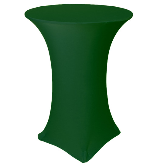 30 inch Highboy Cocktail Round Stretch Spandex Table Cover Hunter Green