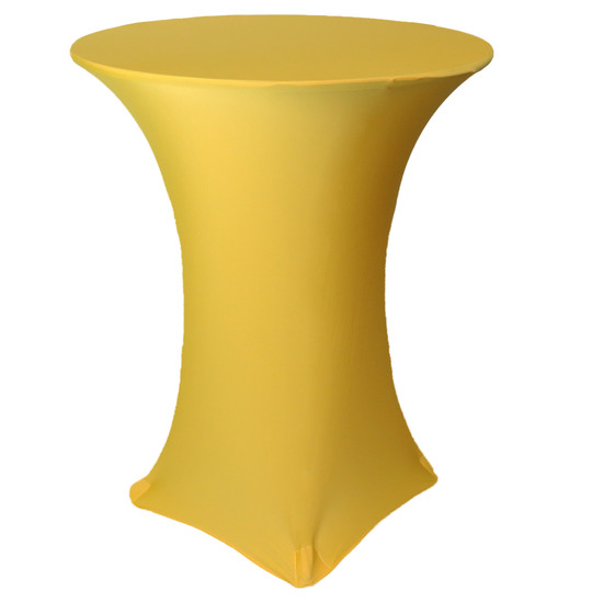 36 inch Highboy Cocktail Round Stretch Spandex Table Cover Gold