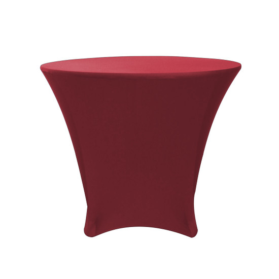 36 x 30 inch Lowboy Cocktail Round Stretch Spandex Table Cover Burgundy