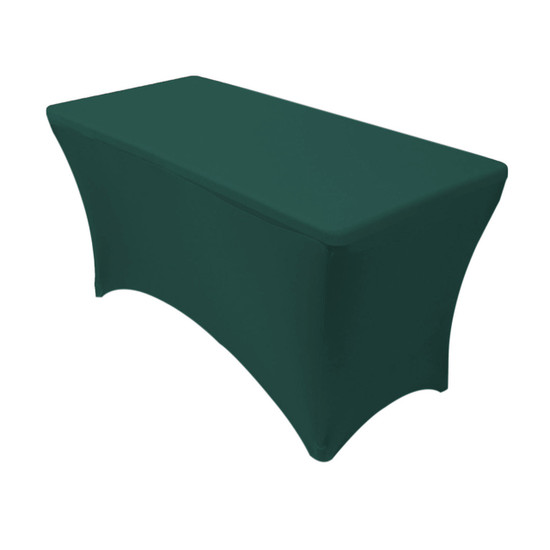 Spandex 4 Ft Rectangular Table Cover Hunter Green