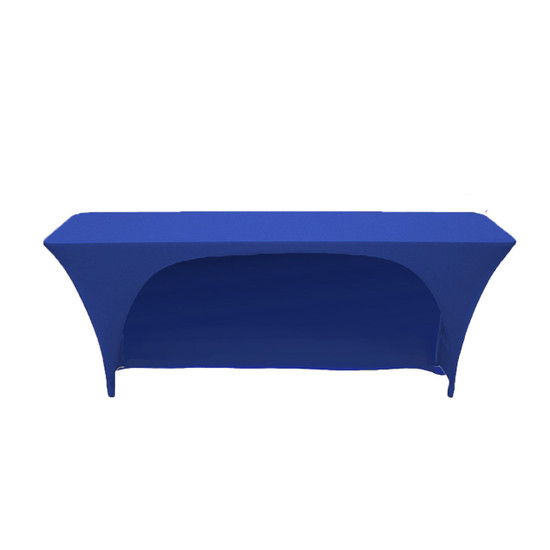 Spandex 6 Ft x 18 Inches Open Back Rectangular Table Cover Royal Blue