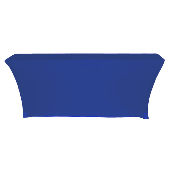 Stretch Spandex 6 ft x 18 Inches Open Back Rectangular Table Cover Royal Blue