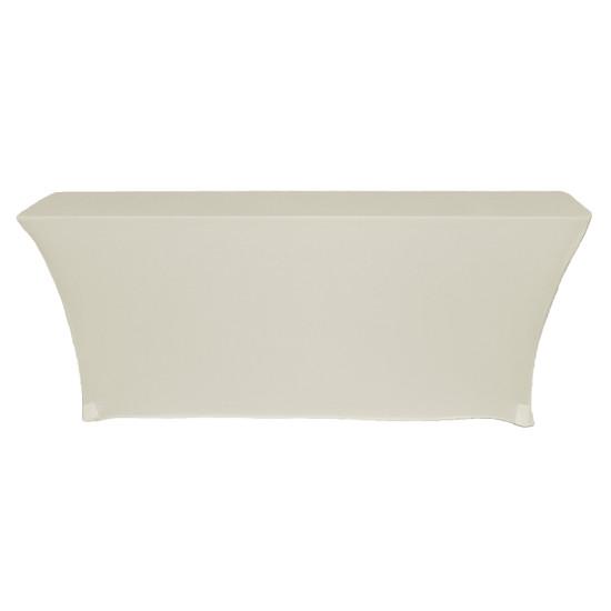 Open Back Rectangular Table Cover Ivory