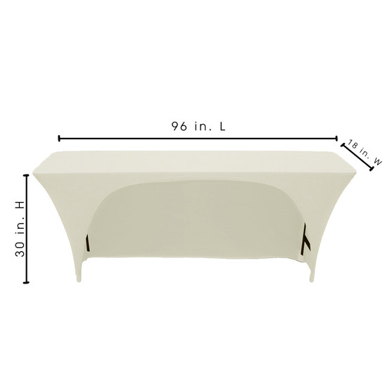 Rectangular Table Cover Ivory