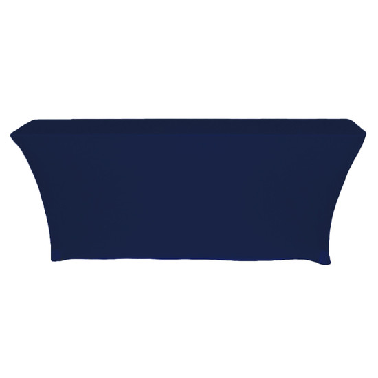 Open Back Rectangular Table Cover Navy Blue