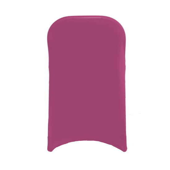 Stretch Spandex Folding Chair Cover Fuchsia For Hotels