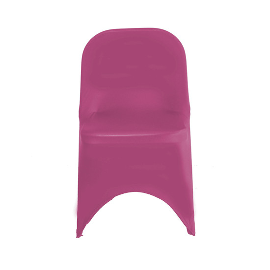 Stretch Spandex Folding Chair Cover Fuchsia For Weddings