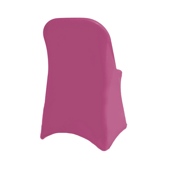 Wholesale Stretch Spandex Folding Chair Cover Fuchsia