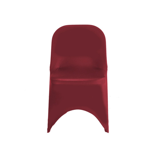 Spandex Folding Chair Cover Burgundy for Events, Parties, Weddings