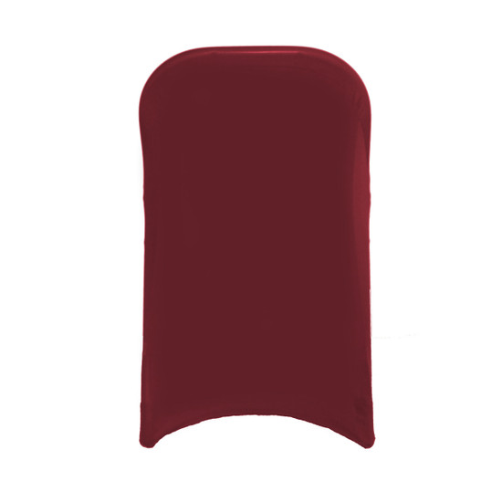 Spandex Folding Chair Cover Burgundy for Events, Parties, Weddings, back view