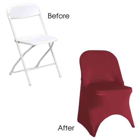 Stretch Spandex Folding Chair Cover Burgundy