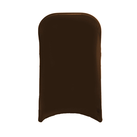 Stretch Spandex Folding Chair Cover Chocolate Brown For Weddings
