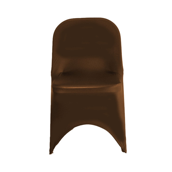 Wholesale Stretch Spandex Folding Chair Cover Chocolate Brown