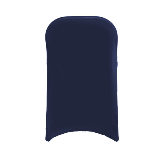 Stretch Spandex Folding Chair Cover Navy Blue For Hotels
