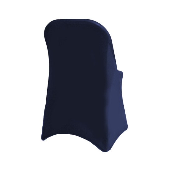 Stretch Spandex Folding Chair Cover Navy Blue For Weddings