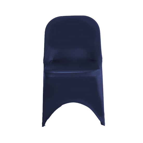 Wholesale Stretch Spandex Folding Chair Cover Navy Blue