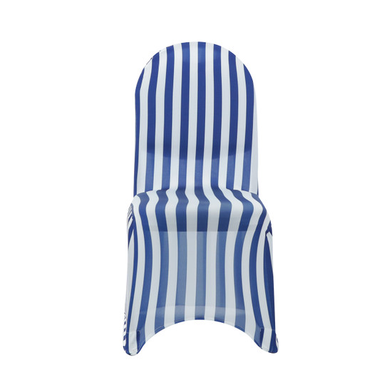 white and royal blue striped spandex chair covers wholesale