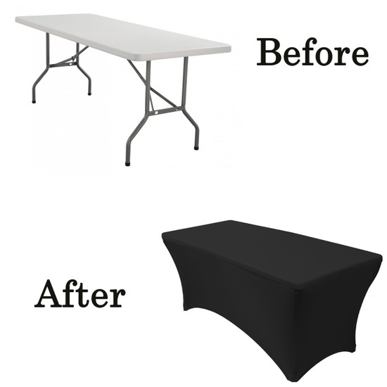 5 ft rectangular tablecloth spandex before after lifetime