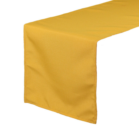 14 x 108 inch Polyester Table Runner Gold
