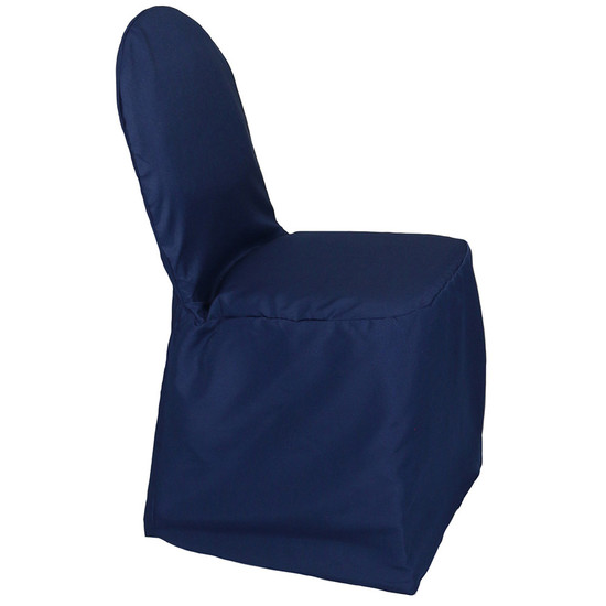 Polyester Chair Cover navy blue