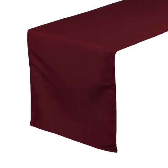 14 x 108 inch Polyester Table Runner Burgundy