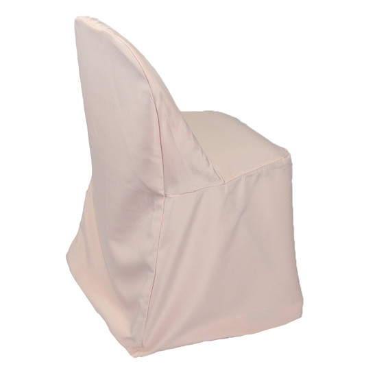 Wholesale Polyester Folding Chair Covers Blush