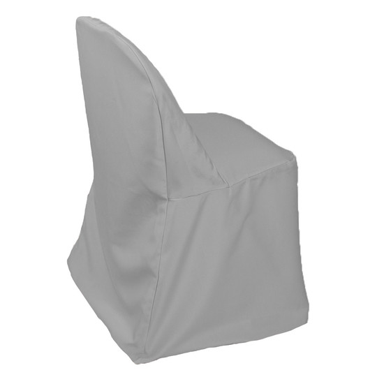 Wholesale Polyester Folding Chair Cover Gray