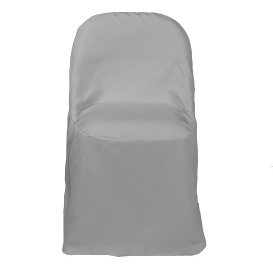Polyester Folding Chair Cover Gray for weddings