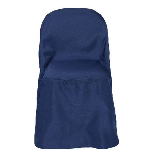 Polyester Folding Chair Cover Navy Blue for weddings