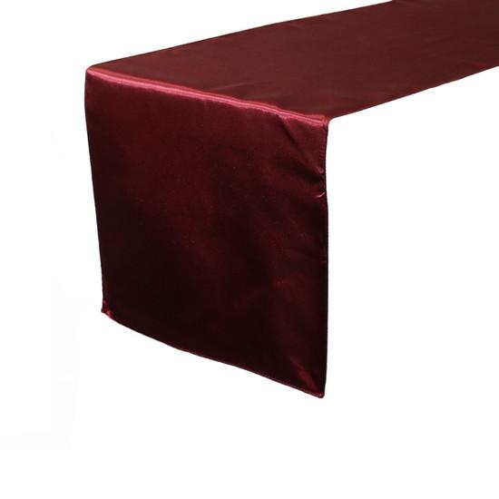 14 x 108 inch Satin Table Runner Burgundy